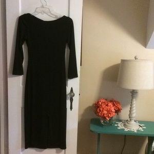 NWOT Free People Black cutout back dress